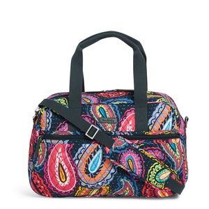 Vera Bradley Compact Traveler Bag in Twlight Paisl
